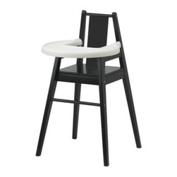 BLÅMES Highchair with tray - Highchair with tray, black