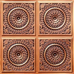 "Decorative Ceiling Tiles - Grandma's Doilies Quartet - Faux Tin Ceiling Tile - Glue up - 24""x24"" - #117 - Find copper, tin, aluminum and more styles of real metal ceiling tiles at affordable prices . We carry a huge selection and are always adding new style to our inventory."