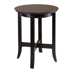 Winsome - Winsome Toby End Table in Dark Espresso Finish - Winsome - End Tables - 92019 - The slightly flared legs and rich dark espresso finish on this table give it a subtle elegance that will enrich the living room bedroom or entry. There are many possibilities and uses for this classic table.