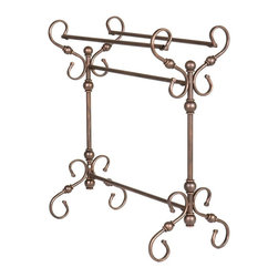 Holly & Martin - Holly & Martin Carlisle Blanket Rack - Made from durable metal. Antique bronze finish. Assembly required. Hanging bars: 25.5 in. W. Overall: 28.5 in. W x 14 in. D x 32 in. H (10 lbs.). Assembly InstructionPerfect anywhere from living room to bedroom, the function of such a wonderful piece is a welcome addition to any room.