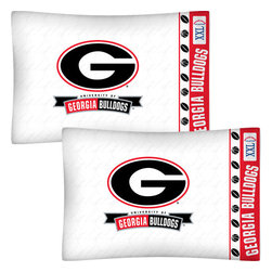 Store51 LLC - NCAA Georgia Bulldogs Football Set of Two Pillowcases - FEATURES: