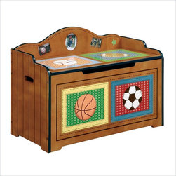 Teamsons Little Sports Fan Kids Toy Chest - This toy chest will keep your kids room tidy, and at the same time add that finishing touch to your juvenile furniture.