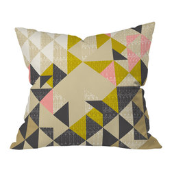 DENY Designs - Pattern State Nomad Quilt Throw Pillow, 20x20x6 - Wanna transform a serious room into a fun, inviting space? Looking to complete a room full of solids with a unique print? Need to add a pop of color to your dull, lackluster space? Accomplish all of the above with one simple, yet powerful home accessory we like to call the DENY throw pillow collection!