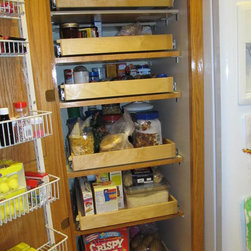 Pantry Pull Out Shelves - Create an organized pantry with custom pull out shelves from ShelfGenie of Portland, designed to fit your existing space.  Increase your ability to see and reach stored in your pantry, ultimately saving you time and money.