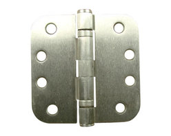 """4"""" X 4"""" With 5/8"""" Radius Satin Nickel Commercial Ball Bearing Hinges - - 4 inch x 4 inch with 5/8 inch radius Satin Nickel Commercial Ball Bearing Hinges - NRP"""