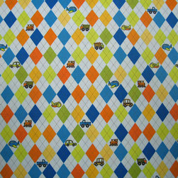 """SheetWorld - SheetWorld Fitted Pack N Play (Graco) Sheet - Argyle Blue Transport - This luxurious 100% cotton """"woven"""" pack n play sheet features an argyle print in a beautiful array of colors on a light blue background. Our sheets are made of the highest quality fabric that's measured at a 280 tc. That means these sheets are soft and durable. Sheets are made with deep pockets and are elasticized around the entire edge which prevents it from slipping off the mattress, thereby keeping your baby safe. These sheets are so durable that they will last all through your baby's growing years. We're called sheetworld because we produce the highest grade sheets on the market today. Size: 27 x 39. Not a Graco product. Sheet is sized to fit the Graco playard. Graco is a registered trademark of Graco."""