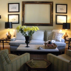 Traditional Living Room by M J HAMPTON DESIGN