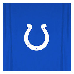 Sports Coverage - NFL Indianapolis Colts MVP Football Shower Curtain - Features: