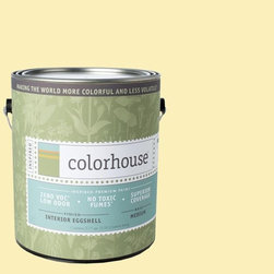 Inspired Eggshell Interior Paint, Aspire .01, Gallon - Color house paints are zero VOC, low-odor, Green Wise Gold certified and have superior coverage and durability. Our artist-crafted colors are designed to be easy backdrops for living. Color house paints are 100% acrylic with no VOCs (volatile organic compounds), no toxic fumes/HAPs-free, no reproductive toxins, and no chemical solvents.