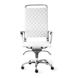 Zuo Modern - Zuo Modern Jackson Modern High Back Office Chair X-788502 - The Jackson office chair is a swank addition to any work space. The chair has a supple leatherette seat complimented by detail stitching and a 100% chrome frame.