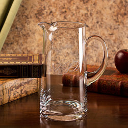 Frontgate - Tankard Pitcher - Handcrafted with lead-free crystal. Monogramming of one or three letters included. Choose from five monogramming styles. Hand wash recommended. Please note, personalized items are nonreturnable. Gorgeous, handblown crystal in our Monogrammed Tankard Pitcher enhances its classic form and function. Monogramming of one or three letters adds a stately air to a piece you'll use for countless occasions. Makes an elegant wedding or anniversary gift. . . . . .