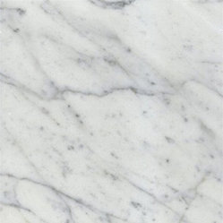 "Italian White Carrara Marble Polished Floor Tiles - Lot of 150 Tiles - 12"" x 12"" thick Full solid Italian Bianco Carrara White Polished Marble Tiles."