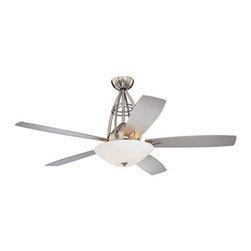 """Possini Euro Palo Alto Ceiling Fan - 60"""" Brushed Nickel -"""