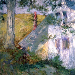 """John Twachtman The Summer House - 16"""" x 20"""" Premium Archival Print - 16"""" x 20"""" John Twachtman The Summer House premium archival print reproduced to meet museum quality standards. Our museum quality archival prints are produced using high-precision print technology for a more accurate reproduction printed on high quality, heavyweight matte presentation paper with fade-resistant, archival inks. Our progressive business model allows us to offer works of art to you at the best wholesale pricing, significantly less than art gallery prices, affordable to all. This line of artwork is produced with extra white border space (if you choose to have it framed, for your framer to work with to frame properly or utilize a larger mat and/or frame).  We present a comprehensive collection of exceptional art reproductions byJohn Twachtman."""