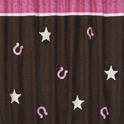 "Sweet Jojo Designs - Western Cowgirl Bandana Shower Curtain - The Western Cowgirl Bandana Shower Curtain is a great way to make over your child's bathroom. Add a designer's touch and some fun colors to your bathroom with this lovely Shower Curtain.  The Shower Curtain measures 72"" x 72"" and is machine washable. Shower hooks and liner are not included."