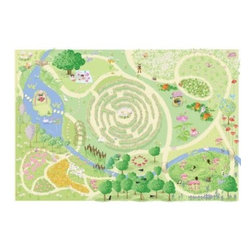 Le Toy Van Fairy Play Mat - Beyond the house of the dolls sits the Le Toy Van Fairy Play Mat giving the 1/16th scale set the chance to get out and stretch their inflexible legs. This fun play mat lets your child's imagine go wild with a hedge maze garden forest wishing well and more. When the imaginary outing is over just fold up the mat and save it until the next trip outdoors. About Le Toy Van Formed in 1995 with the modest intention of producing high-quality wooden toys that would only be distributed in the UK Le Toy Van added to the market with their take on traditional play sets with a dollhouse farm and castle. The reception was ultimately positive and today Le Toy Van products are offered around the world. Le Toy Van sources their wood only from sustainably farmed forests and each of their products meets or exceeds the stringent EN71 safety guidelines as well as undergoing routine safety testing by accredited organizations.