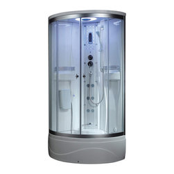 Ariel - Ariel SS-902A Steam Shower - Enjoy the pleasures of the Ariel 902A steam shower in your own home. These units are fully loaded steam shower enclosures, with a built in steam generator, and much much more for your therapeutic experience. We are confident that you will indulge in a state of complete relaxation and tranquility with all the features of this steam bath enclosure.Look below for all the features and detailed specifications of this steam shower.  What's Included: Ariel 902A Steam Shower Unit  Features    110V   ETL Certified - this certification mark indicates that the product has been tested to and has met the minimum requirements of a widely recognized (consensus) U.S. product safety standard, that the manufacturing site has been audited, and that the applicant has agreed to a program of periodic factory follow-up inspections to verify continued conformance.  Steam Sauna - the high-speed and high-efficiency steam engine can produce high temperature steam in a short time and this helps you to expedite...