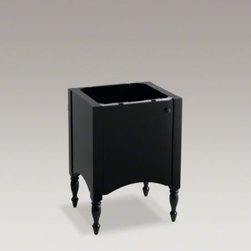 "KOHLER - KOHLER Alberry(R) 24"" vanity - With a style evoking cherished antique heirlooms, the Alberry 24-inch wood vanity takes its cues from Colonial-era furnishings. Traditional turned-post legs evoke a handcrafted feel, complemented by the arched base and straight lines of this classic Ameri"