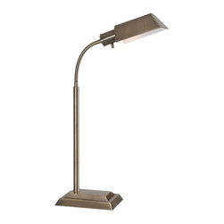 Kenroy Home - Kenroy 20966AB Steward Table Lamp - Angular and streamlined, Steward's handsome Art Deco-inspired design will find a welcome place on a desk or by the bed.