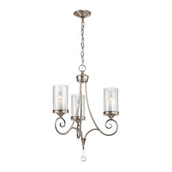 Kichler - Kichler Lara 1 Tier Chandelier in Classic Pewter - Shown in picture: Kichler Chandelier 3Lt in Classic Pewter