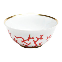 Raynaud - Cristobal Coral Porcelain Rice Bowl - Designed by the well-known interior decorator, Alberto Pinto, the Cristobal dinnerware found its inspiration in the colors and shapes of deep-sea coral. Each piece is individually designed to be its own independent work of art.