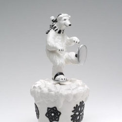 ATD - 5.63 InchBlack and White Ice Skating Polar Bear Themed Musical Box - This gorgeous 5.63 InchBlack and White Ice Skating Polar Bear Themed Musical Box has the finest details and highest quality you will find anywhere! 5.63 InchBlack and White Ice Skating Polar Bear Themed Musical Box is truly remarkable.