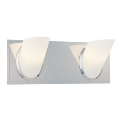 "Kovacs - Kovacs P5942 2 Light 13.5"" Bathroom Vanity Light Angle Collection - Two Light 13.5"" Bathroom Vanity Light from the Angle CollectionFeatures:"