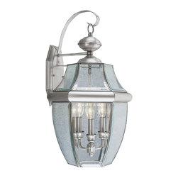 Livex - Livex Monterey Outdoor Wall Lantern 2351-91 - Finish: Brushed Nickel