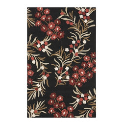 Surya - Surya Cannes Black Indoor/Outdoor Polyester Rug, 8' x 10' - Material: 100% PolyesterCare Instructions: Blot Stains