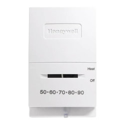 Honeywell - Honeywell T-Stat Heat Only Snap Action Mercury Free - Honeywell -- Heat Only Thermostat for Control of Single Stage Low Voltage Heating Systems. Thermostat Provides 24 Vac Control of Heating Or Cooling Systems. 50 F To 90 F Temperature Range. White.