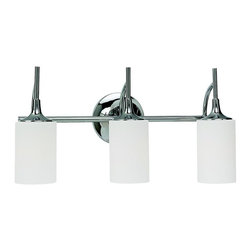 """Sea Gull Lighting - Sea Gull Lighting Stirling Transitional Bathroom / Vanity Light X-50-45944 - Height from center of outlet box up: 6.125"""" down: 5""""."""