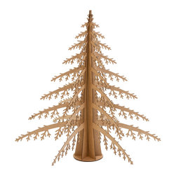 Cardboard Safari - Alpine Tree, Brown, Giant - Our Alpine Tree is laser-cut for precision fit and easy assembly using slotted construction. They look great in their native brown or white and can be decorated with paint, glitter or other craft materials.
