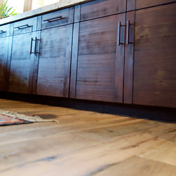 E. Residence (Evergreen, CO) - Antique Oak smooth cabinetry with finish.