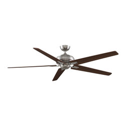 Fanimation - FPD8089PW-NL Keistone 5 Blade Ceiling Fan, Pewter - Modern Contempo Ceiling Fan in Pewter from the Keistone Collection by Fanimation.