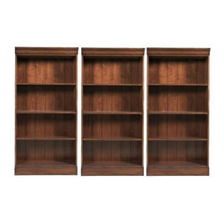 Riverside Furniture - Riverside Furniture Cantata Small Wall Bookcase - Riverside Furniture - Bookcases - 4918PKG - Riverside Furniture Cantata Small Bookcase (included quantity: 3)