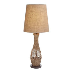 "Benzara - Metal and Rattan Table Lamp with Sturdy and Durable Design - Metal and rattan 32"" table lamp with sturdy and durable design. Featuring a subtle style, this metal rattan lamp sports a slightly classic appeal that makes it perfect for blending in with traditional settings. It comes in the following dimensions 6''W x 6""D x 32 ""H. 13''W x 10""D x 13""Shade. Some assembly may be required."