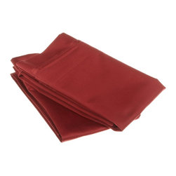 """1000 Thread Count Egyptian Cotton Standard Burgundy Solid Pillowcase Set - Our 1000 Thread Count 100% Egyptian Cotton Pillowcase sets make every night an indulgence. They are composed of premium, long-staple cotton and have a """"Sateen"""" finish as they are woven to display a lustrous sheen that resembles satin. Luxurious and affordable! Set includes: (2) Pillowcases 21""""x32"""" each."""