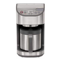 Krups KM611D50 10 Cup Precision Coffee Maker w/ Thermal Carafe, Stainless Steel