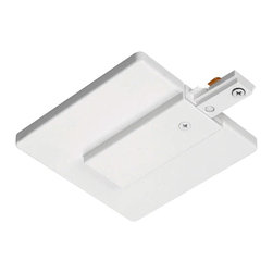 Juno Lighting - Juno R21 Trac-Lites End Feed Connector and Outlet Box Cover, R21wh - Trac-Lites End Feed Connector and Outlet Box Cover. For outlet box feed.