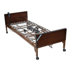 Drive Medical Delta Electric Bed with Rails and Mattress