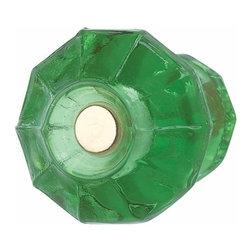 Renovators Supply - Emerald Green Glass Cabinet Knob - This 14286 Emerald Green Solid Glass Cabinet knob measures 1-1/8 in.