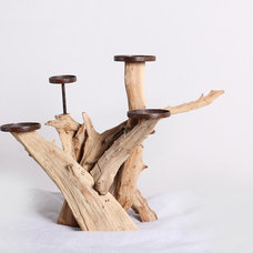 Rustic Candleholders by ParrotUncle