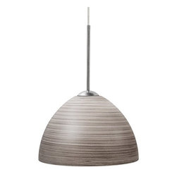LBL Lighting - LBL Lighting Clay II Terra Gray Monopoint 1 Light Track Pendant - LBL Lighting Clay II Terra Gray Monopoint 1 Light Track PendantAdd lasting beauty to any home or commercial application with this gorgeous pendant featuring a large diameter pressed glass dome with delicate hand swirled Terra Gray decoration.Each Monopoint lighting fixture includes a single-point canopy with built-in transformer right out of the box for a quick and easy installation.LBL Lighting Clay II Terra Gray Monopoint Features: