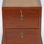 Asian-Inspired Small Cabinet with Rattan Top - Asian-Inspired Small Cabinet with Rattan Top