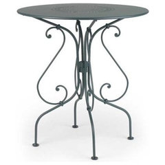 patio furniture and outdoor furniture Fermob 1900 Pedestal Table 26 inch with Perforated top