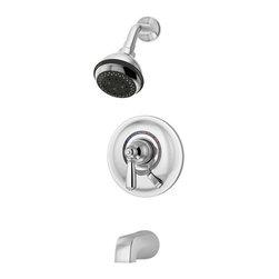 Symmons - Symmons Allura Single Handle 1-Spray Tub and Shower Faucet, Chrome (S-4702) - Symmons S-4702 Allura Single Handle 1-Spray Tub and Shower Faucet, Chrome