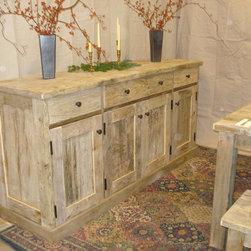 Driftwood Sideboard - Rustic, Handmade, Driftwood Sideboard Cabinet