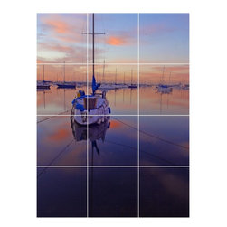Picture-Tiles, LLC - Boat Ship Picture Kitchen Bathroom Ceramic Tile Mural  12.75 x 17 - * Boat Ship Picture Kitchen Bathroom Ceramic Tile Mural 1257