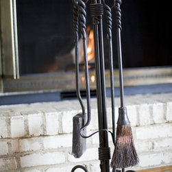 Custom Wrought Iron Fireplace Tools -
