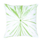 Rizzy Home - Rizzy Home Tie-Dye Green and White Decorative Throw Pillow - T04415 - Shop for Pillows from Hayneedle.com! Fresh and funky the Rizzy Home Kaleidoscope Green and White Decorative Throw Pillow is a retro charmer. Perfect for dressing up a drab bedroom this throw pillow comes in a zingy green and white tie-dyed design. It features a soft 100% cotton cover that's machine-washable. It has a hidden zipper and removable insert.About Rizzy HomeRizwan Ansari and his brother Shamsu come from a family of rug artisans in India. Their design color and production skills have been passed from generation to generation. Known for meticulously crafted handmade wool rugs and quality textiles the Ansari family has built a flourishing home-fashion business from state-of-the-art facilities in India. In 2007 they established a rug-and-textiles distribution center in Calhoun Georgia. With more than 100 000 square feet of warehouse space the U.S. facility allows the company to further build on its reputation for excellence artistry and innovation. Their products include a wide selection of handmade and machine-made rugs as well as designer bed linens duvet sets quilts decorative pillows table linens and more. The family business prides itself on outstanding customer service a variety of price points and an array of designs and weaving techniques.